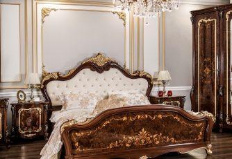Кровать Энрике корень дуба глянец