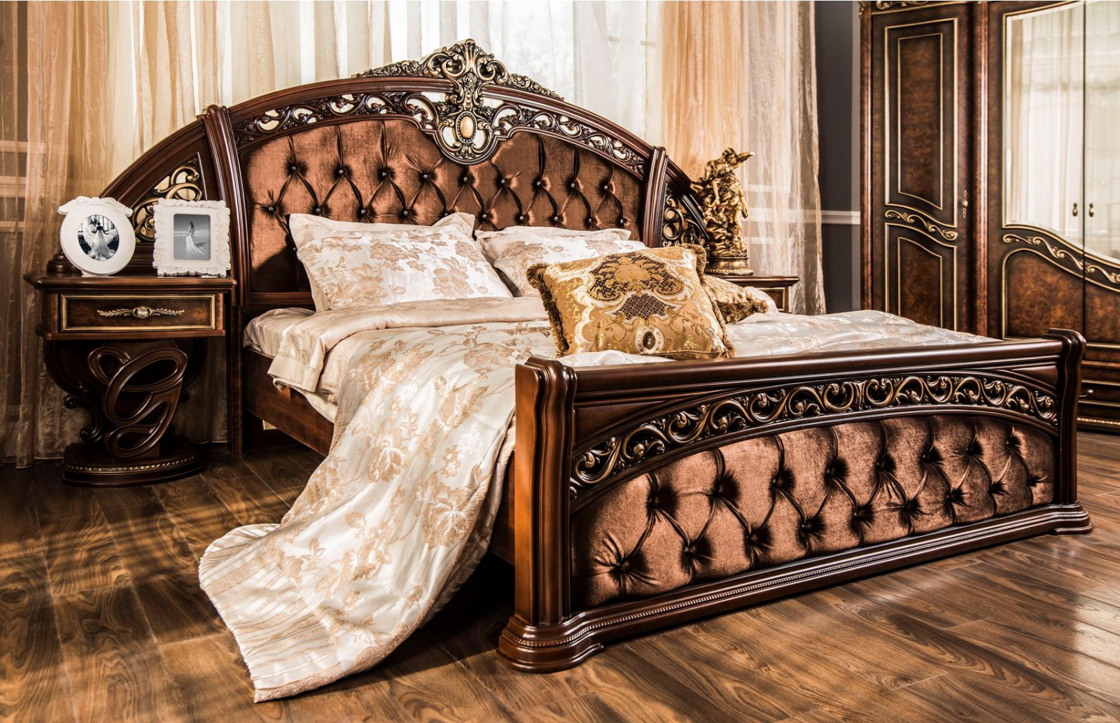 Кровать Шах корень дуба