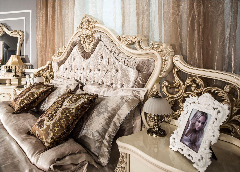 Кровать Джоконда крем глянец1