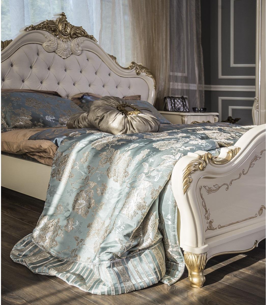 Кровать Энрике крем глянец1