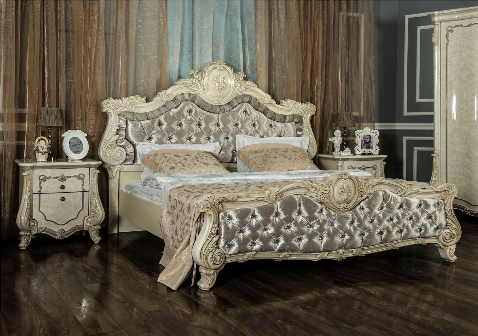 Кровать Марселла корень ясеня глянец