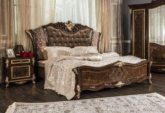Кровать Оливия корень дуба глянец