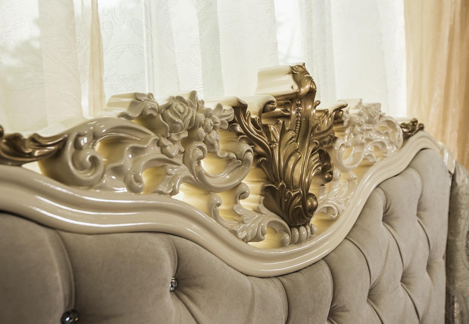 Кровать Оливия крем глянец1