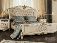Кровать Оливия крем глянец