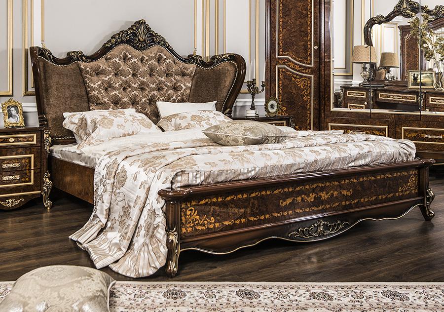 Кровать Прага корень дуба глянец