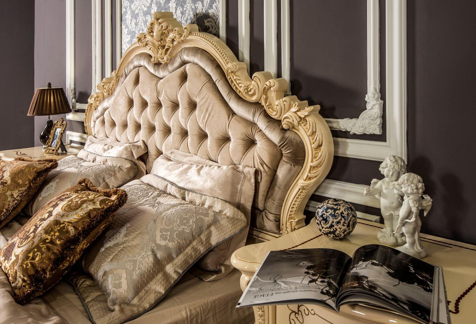 Кровать Росcелла крем глянец1