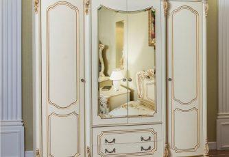 Шкаф Мона Лиза крем  4-х ств.