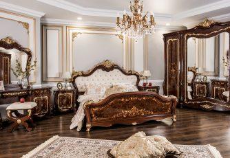 Спальня Энрике корень дуба глянец
