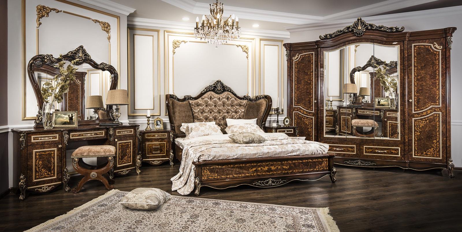 Спальня Прага корень дуба глянец
