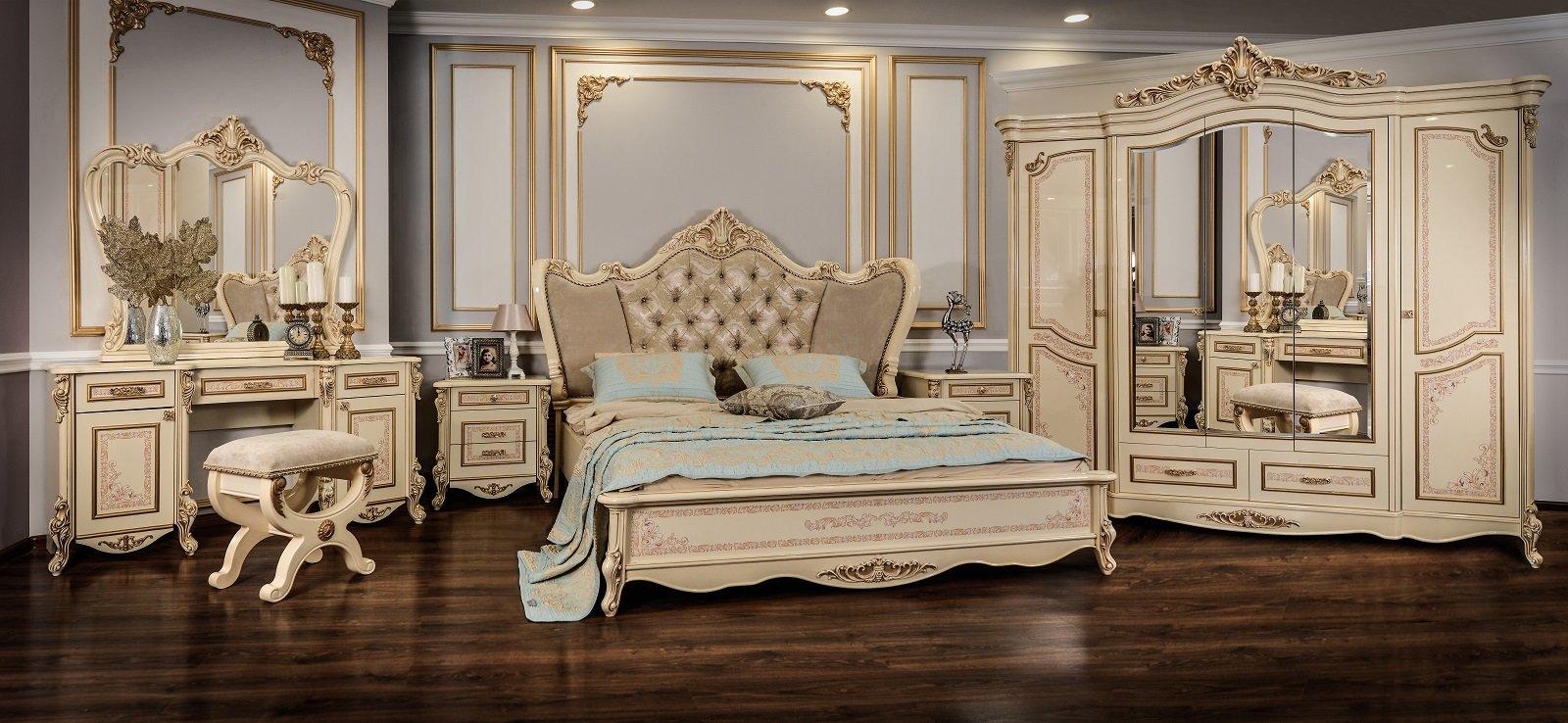 Спальня Прага крем глянец