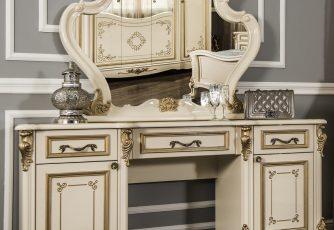 Туалетный столик Оливия крем глянец