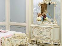 Комод 3 ящика+зеркало+пуф Versailles