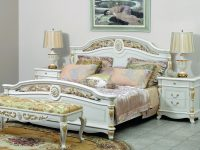 Кровать Afina белая с золотом