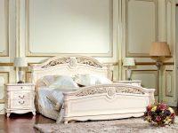 Кровать Afina белый с жемчугом