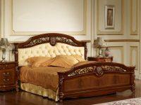 Кровать Afina орех с золотом