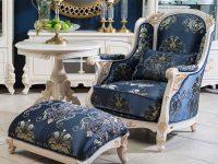 Пуф низкий к креслу, ткань Bohemia