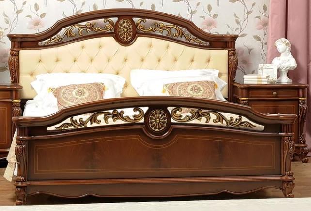 Кровать Afina орех с золотом 2