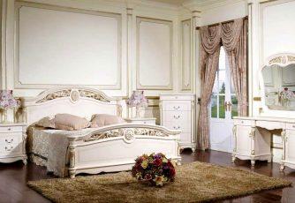Спальня Afina белый с золотом