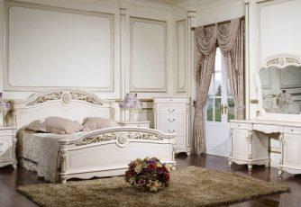 Спальня Afina белый с жемчугом
