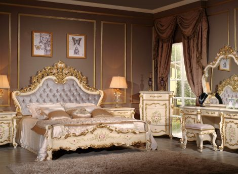 Спальни в теплых тонах
