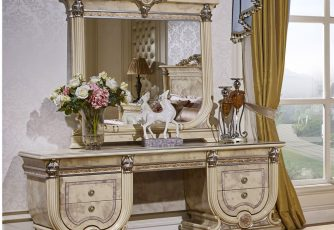 Стол туалетный с зеркалом Imperiale I белый