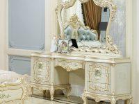 Стол туалетный с зеркалом + пуф Versailles