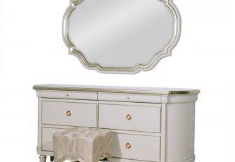 Стол туалетный с зеркалом Marquise Art Gray