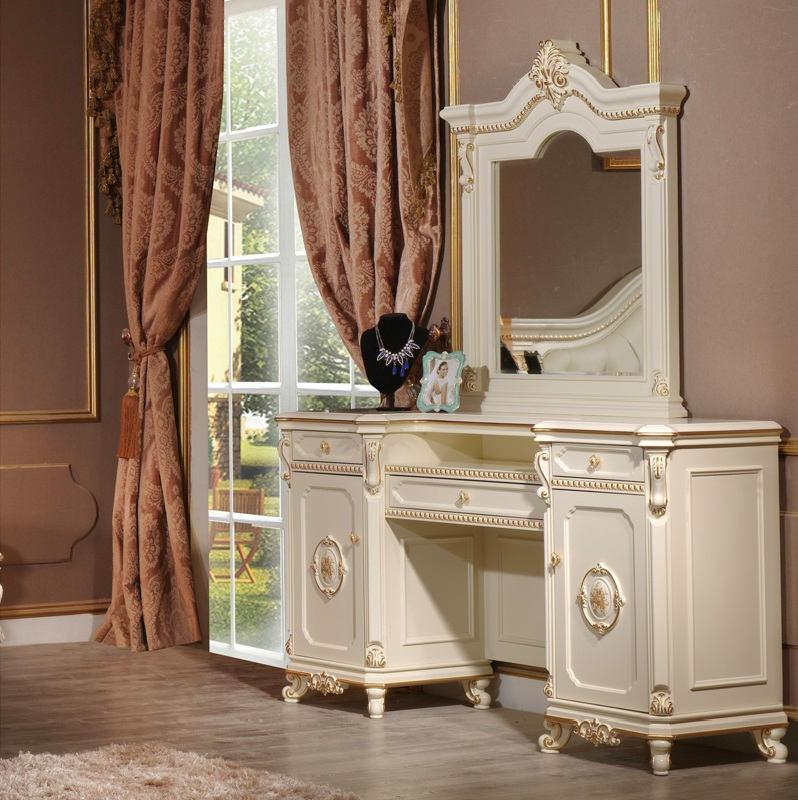 Стол туалетный с зеркалом Safina Avorio
