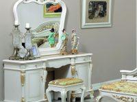 Туалетный стол Afina белый с золотом