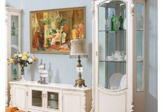 Витрина 1-дверная правая Afina белый с жемчугом