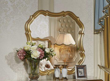 Золотые зеркала для спальни
