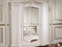 Шкаф Afina 4-х дв. белый с золотом1