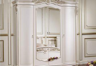 Шкаф Afina белый с золотом