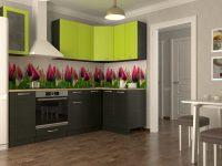 Кухня Тюльпаны угловая