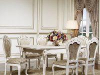Стол обеденный Afina белый с золотом