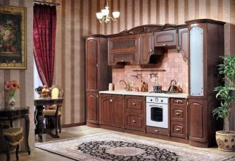Кухня Мадлен караваджо прямая