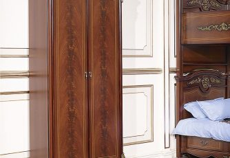 Шкаф Afina орех с золотом 2-х дв.