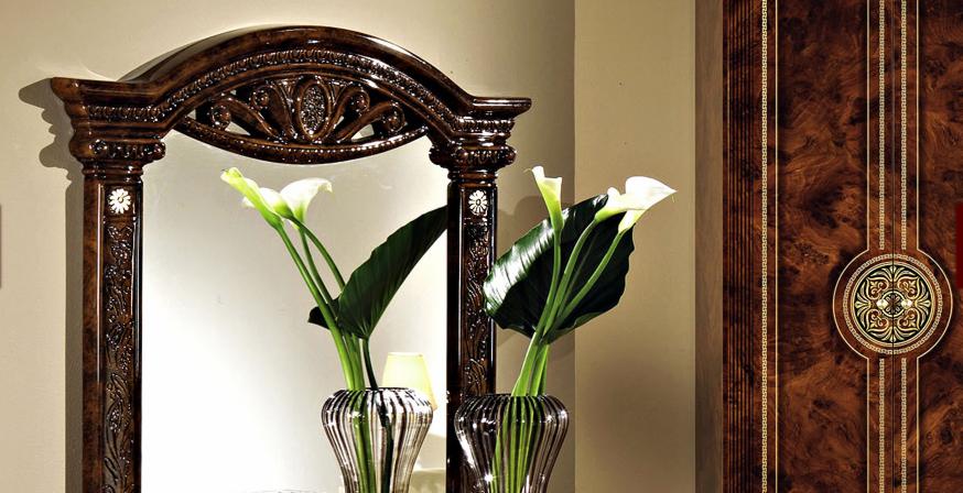 Комод с зеркалом Рома орех1