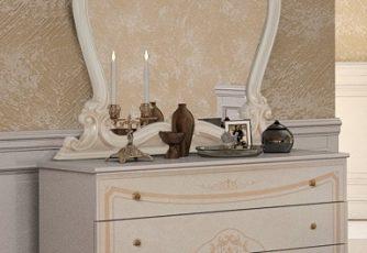 Комод с зеркалом Версаль беж