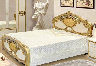Кровать Ольга золото