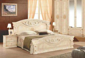 Кровать Рома беж