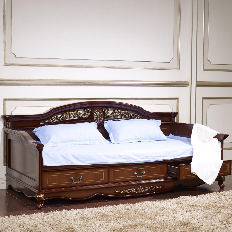 Кровать детская Afina орех с золотом
