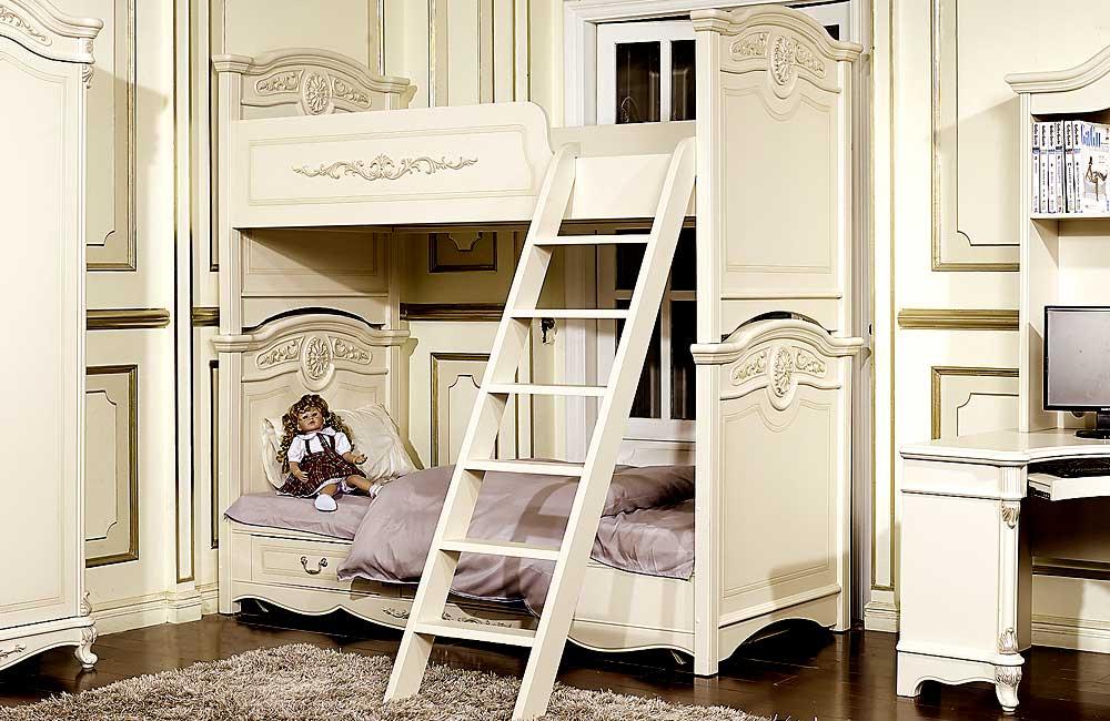 Кровать детская Afina белый с жемчугом1