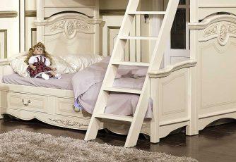 Подставка к кровати с доп. местом Afina белый с жемчугом