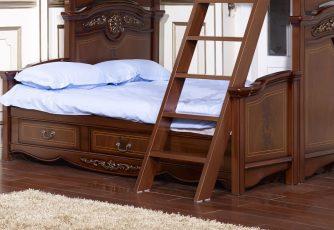Подставка к кровати с доп. местом Afina орех с золотом