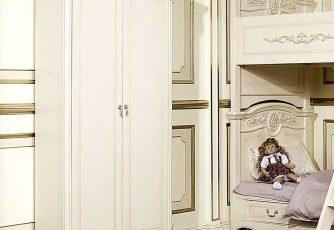 Шкаф Afina белый с жемчугом 2-х дв.