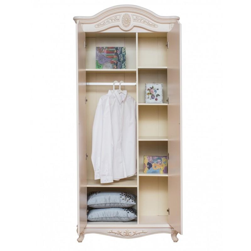 Шкаф Afina белый с жемчугом 2-х дв.1
