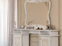 Туалетный стол с зеркалом Рафаэлла беж