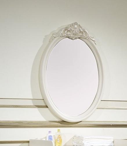 Зеркало настенное Afina белый с жемчугом
