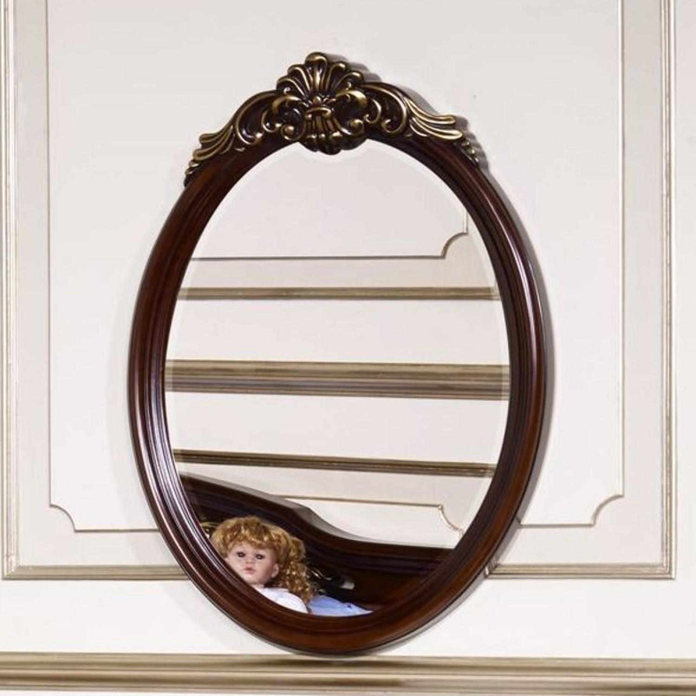 Зеркало настенное Afina орех с золотом